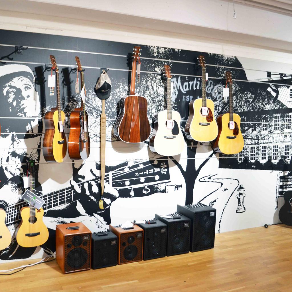Folienkunst für Justmusic und Martin Guitars