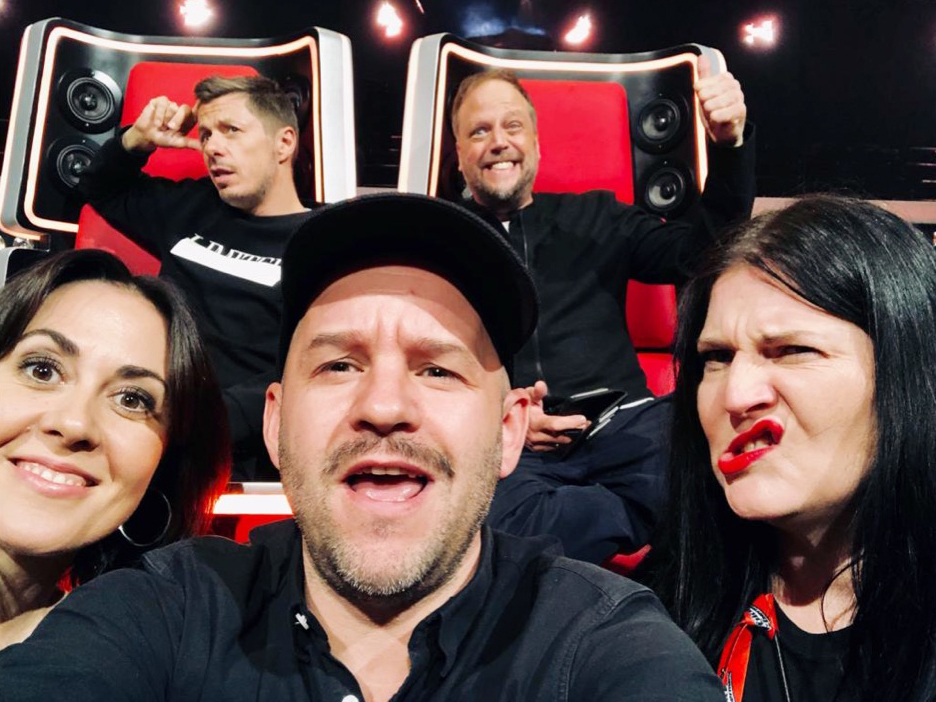 Team Fanta, The Voice of Germany und Tina Frank als Vocal Coach im Team.